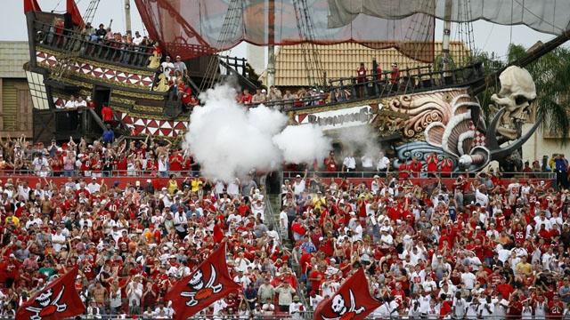 Le fameux bateau pirate du Raymond James Stadium (Pinterest)