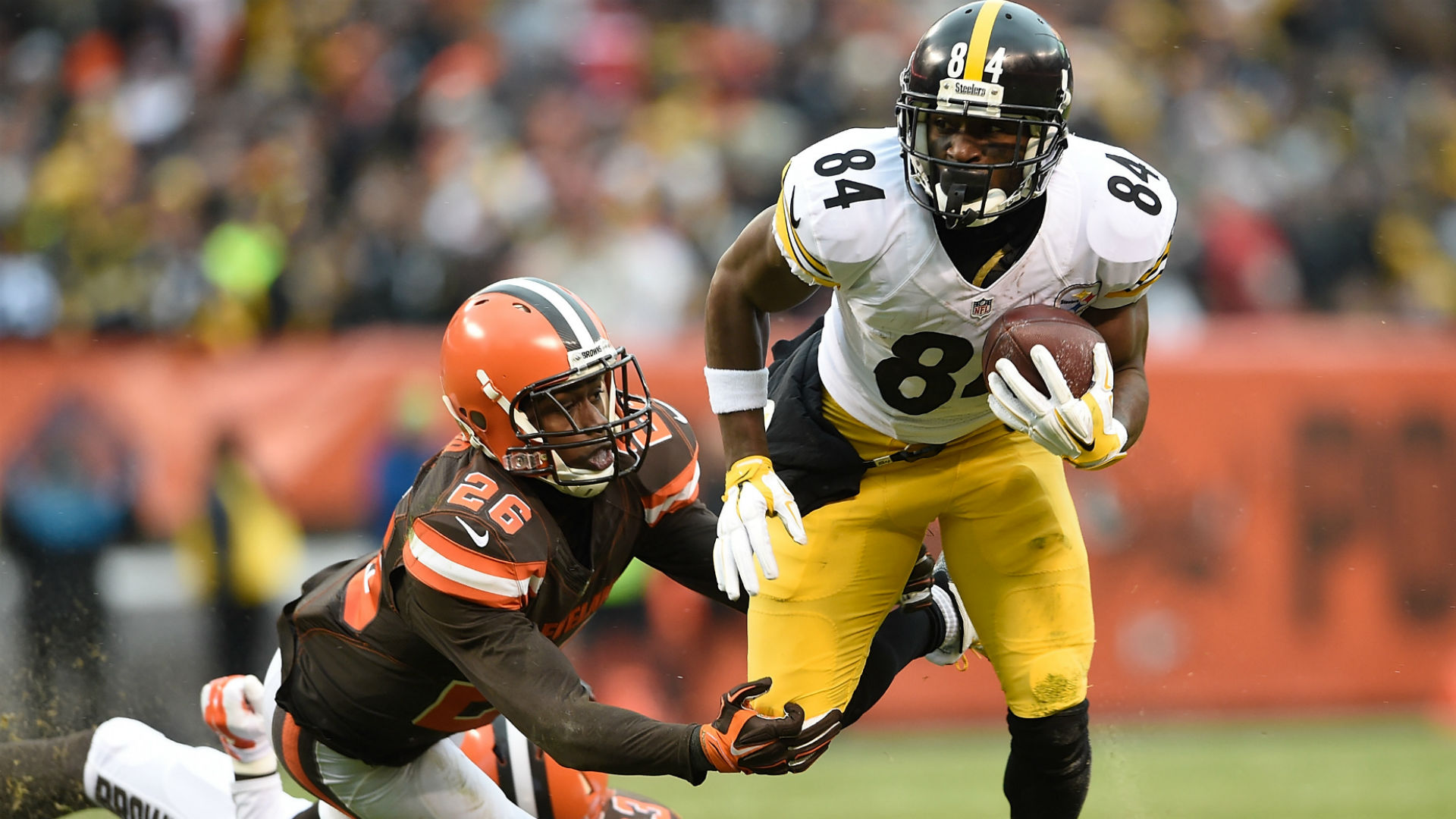 Antonio Brown est le n°1 au post de WR avant la saison 2016 (Getty)