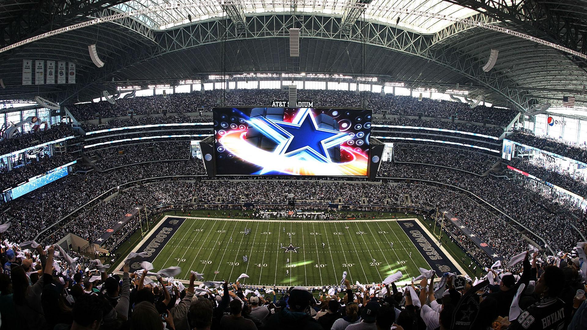 Les fameux écrans géants du AT&T Stadium (Getty)
