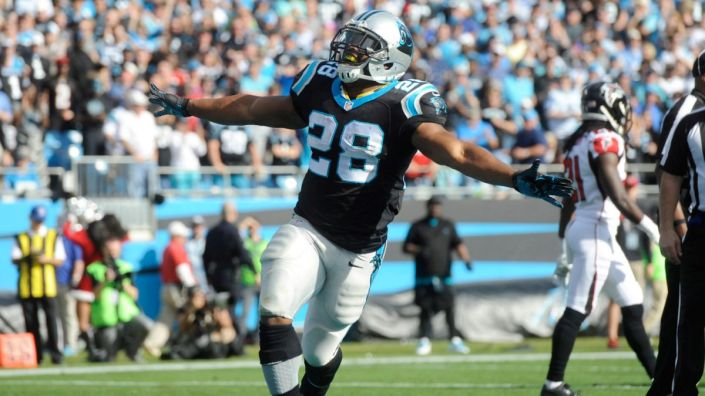 Jonathan Stewart, expert pour faire manquer les plaquages (USA Today)