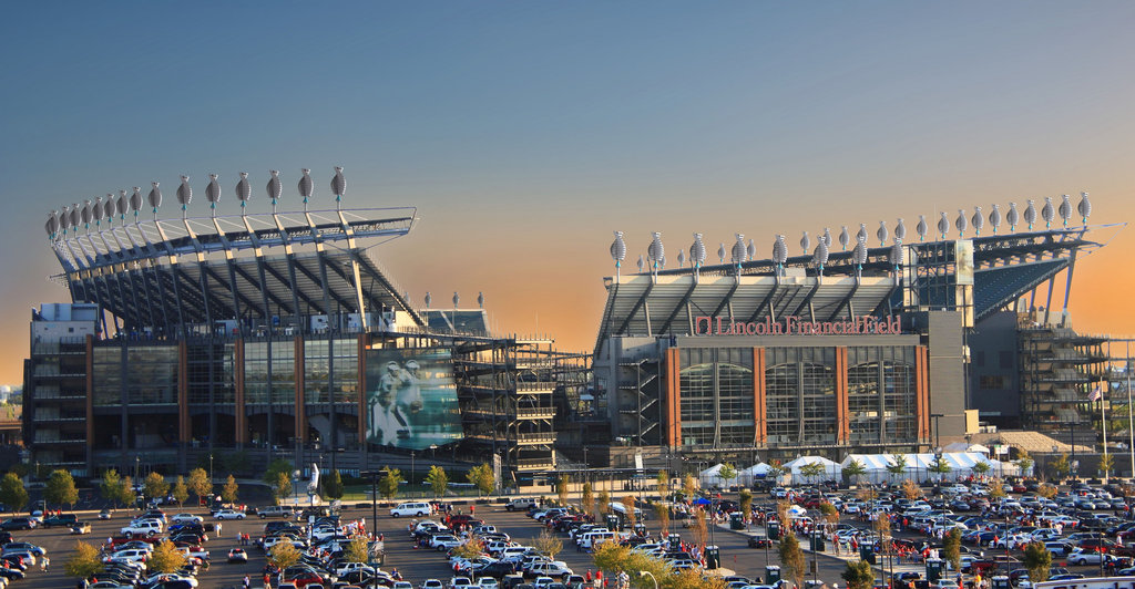 Vue extérieure du Lincoln Financial Field de Philadelphie (Eagles.com)