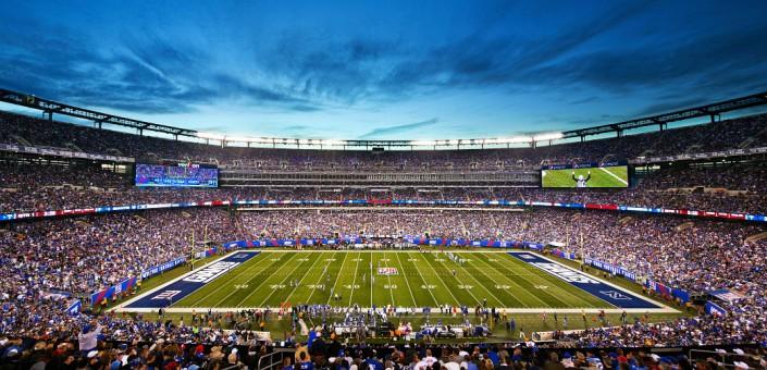 Le MetLife Stadium, ici aux couleurs des Giants (Fandeavor)