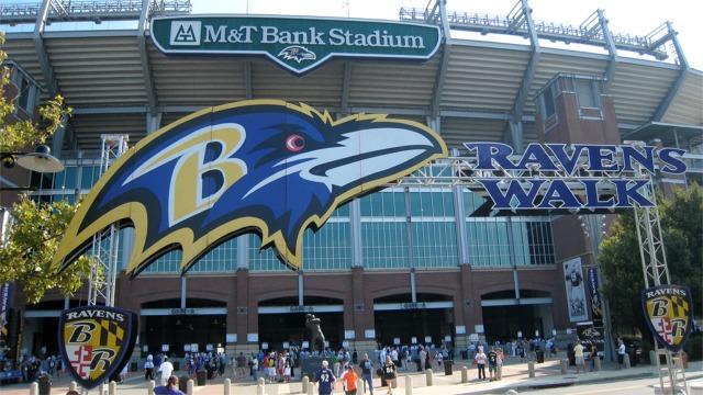 L'entrée principale du M&T Bank Stadium