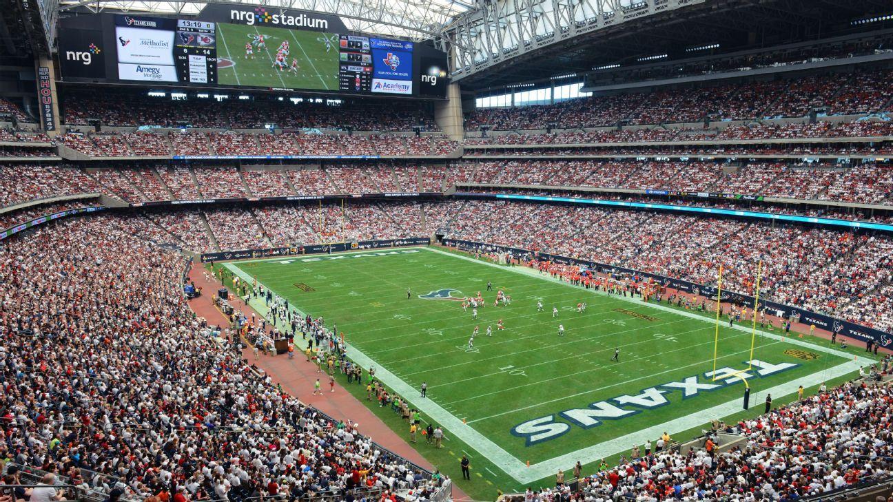 Vue d'ensemble du NRG Stadium, ex- Reliant Stadium (ESPN)