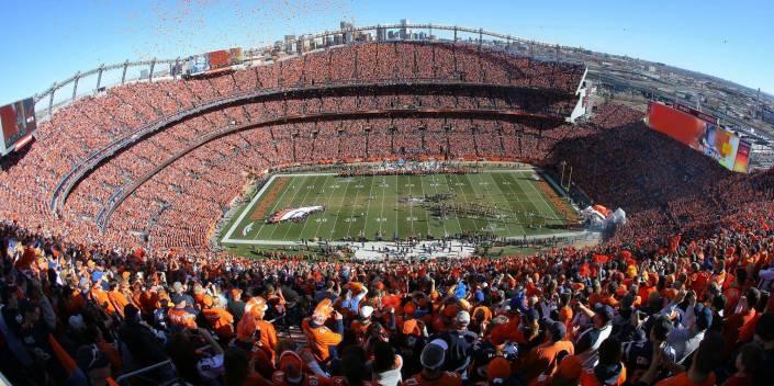 Vue d'ensemble du stade des Broncos
