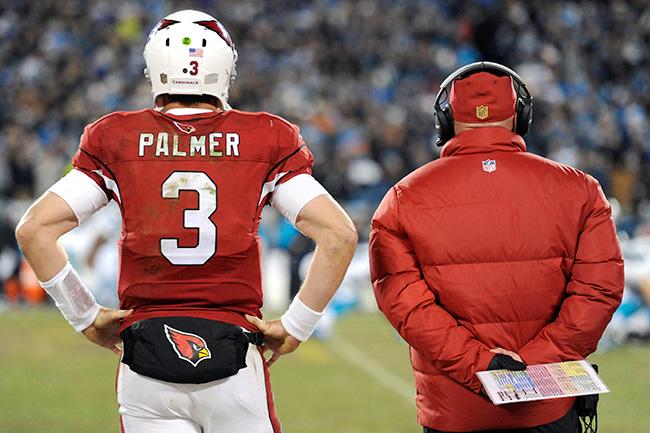 Carson Palmer et Bruce Arians ont les yeux rivés sur le Super Bowl LI (Getty)