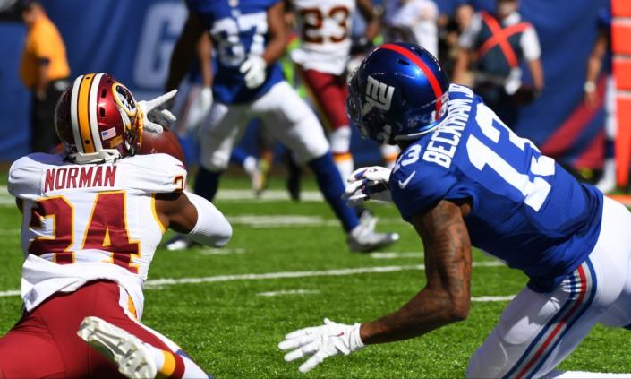 OBJ gagne son duel face à Josh Norman, mais les Giants perdent le match (USA Today)
