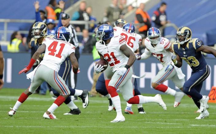 Les Giants remportent le 3è et dernier match de la saison à Londres (EPA)