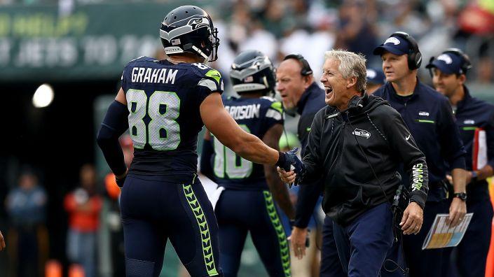 Le connexion Wilson – Graham commence à faire des dégâts, pas une bonne nouvelle pour les autres équipes de NFL (Getty)