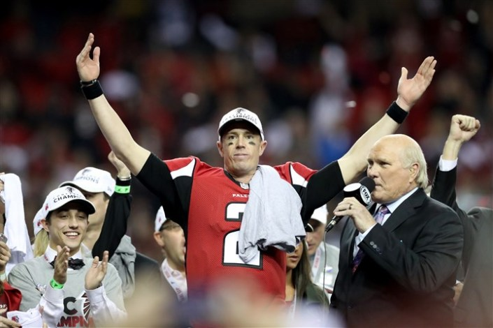 """MVP ! MVP ! MVP ! Encore un très gros match de Matt Ryan (Getty)"
