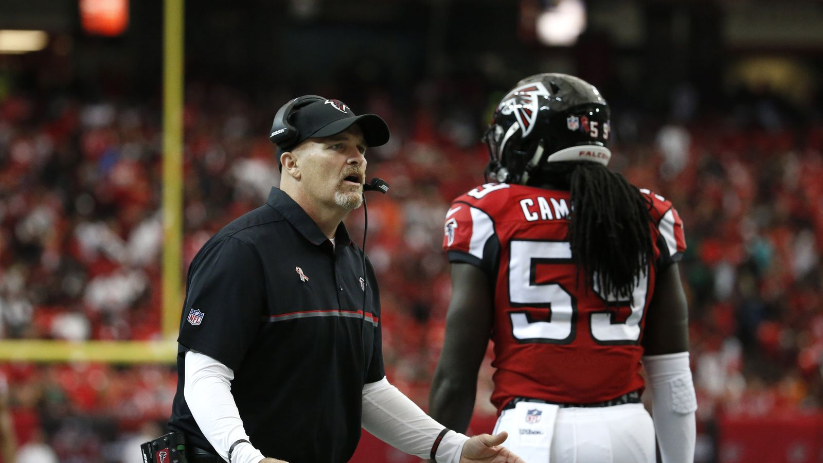 Campbell a su s'imposer au sein de la défense de Dan Quinn (USA Today)