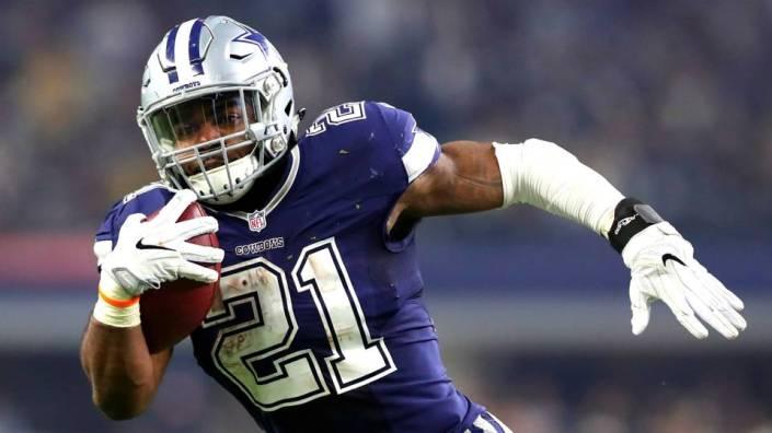 """Attendu, """"Zeke"""" n'a pas déçu et termine leader de NFL en yards au sol (Getty)"""