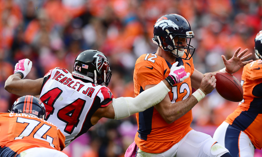 Vic Beasley, leader de NFL avec 15.5 sacks (Getty)